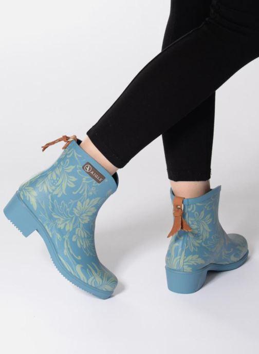 Bottines et boots Aigle Miss Juliette Botillon Bleu vue bas / vue portée sac