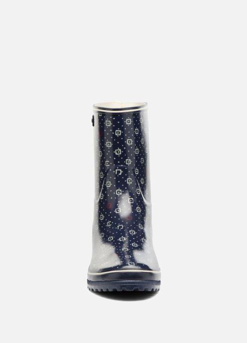 Bottes Aigle Venise Bottillon Print Bleu vue portées chaussures