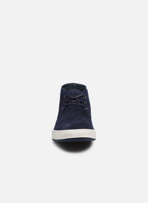Chaussures à lacets Aigle Lonriver Mid Bleu vue portées chaussures