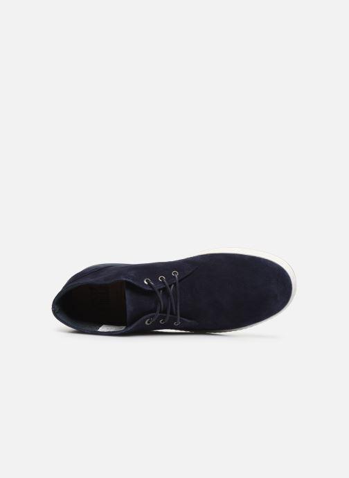 Chaussures à lacets Aigle Lonriver Mid Bleu vue gauche