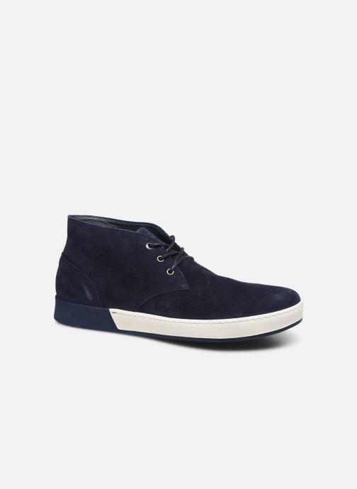 Chaussures à lacets Aigle Lonriver Mid Bleu vue détail/paire
