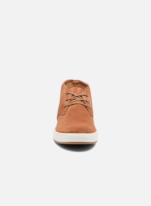 Chaussures à lacets Aigle Lonriver Mid Marron vue portées chaussures