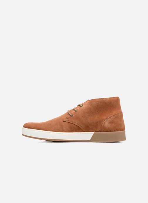 Zapatos con cordones Aigle Lonriver Mid Marrón vista de frente