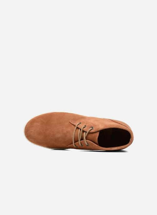 Lace-up shoes Aigle Lonriver Mid Brown view from the left