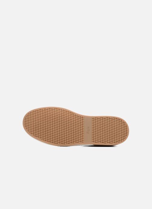 Chaussures à lacets Aigle Lonriver Mid Marron vue haut