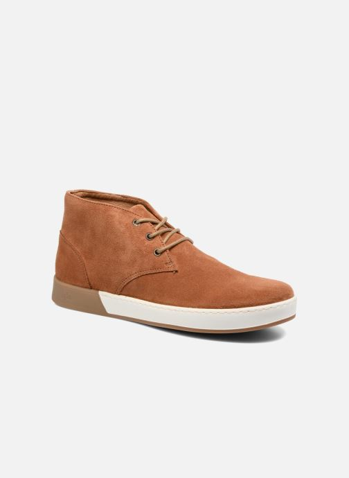 Zapatos con cordones Aigle Lonriver Mid Marrón vista de detalle / par