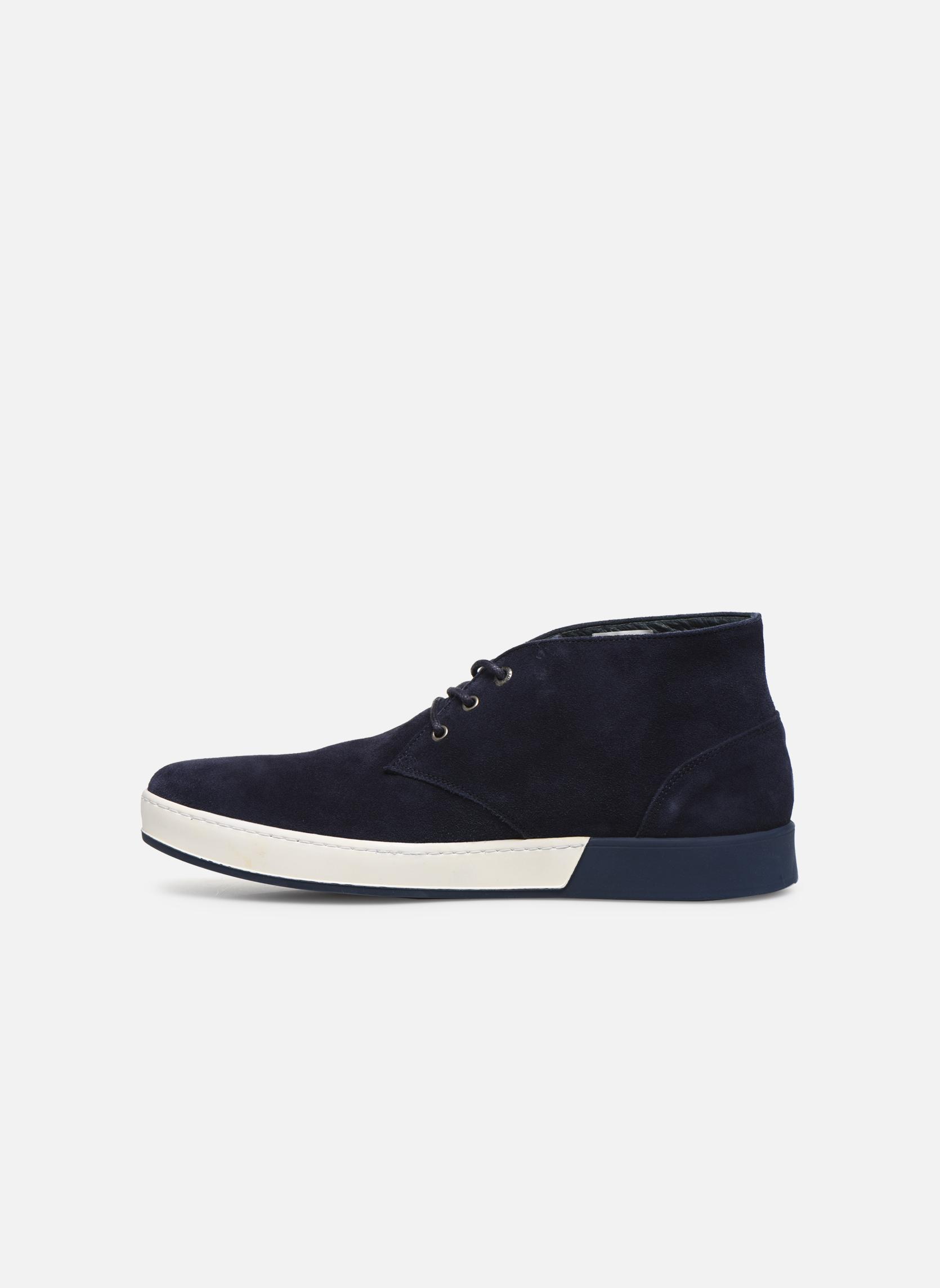 Zapatos con cordones Aigle Lonriver Mid Azul vista de frente