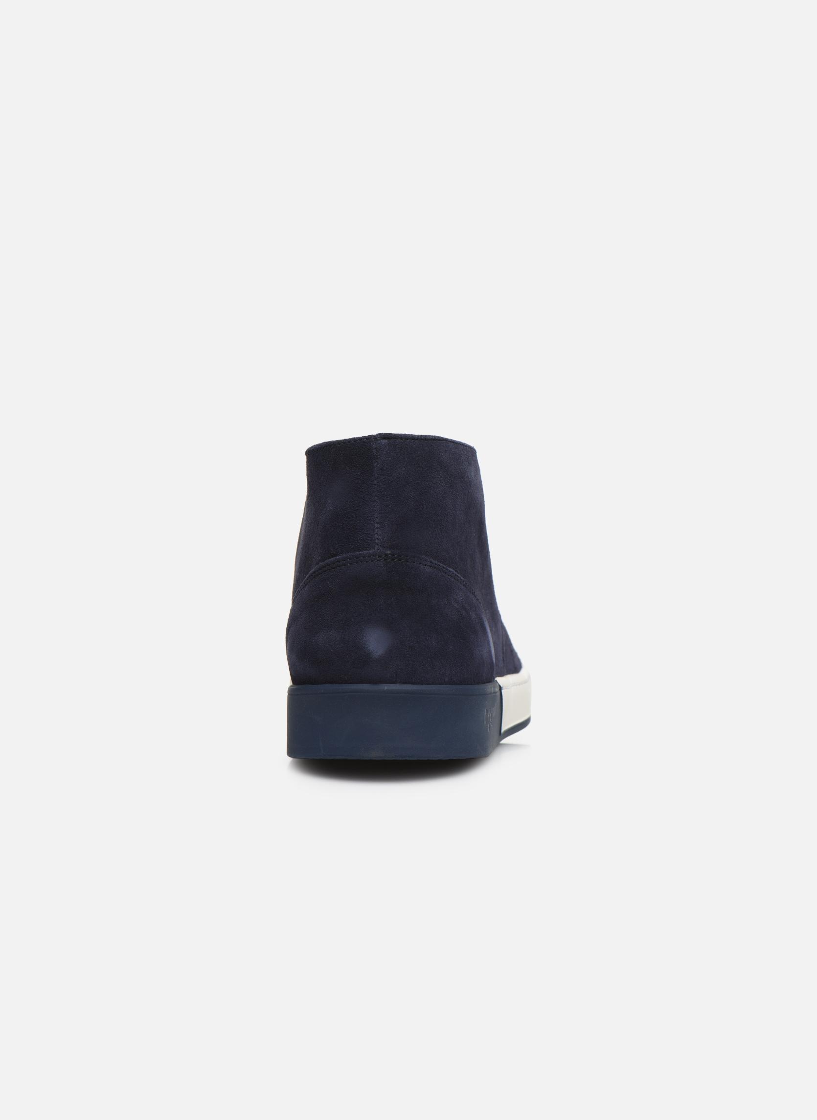 Zapatos con cordones Aigle Lonriver Mid Azul vista lateral derecha