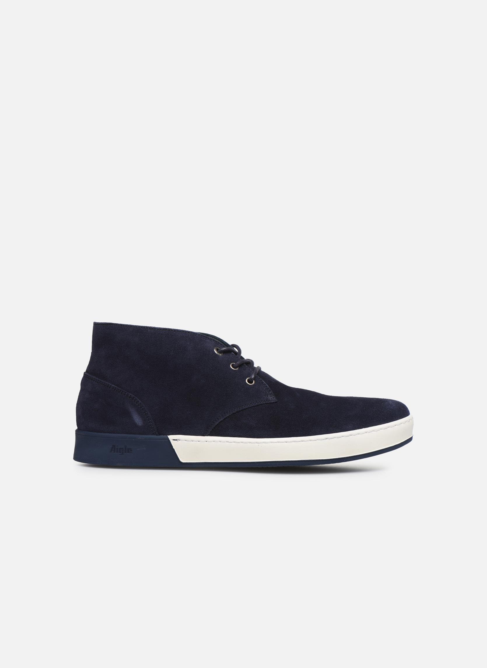 Zapatos con cordones Aigle Lonriver Mid Azul vistra trasera