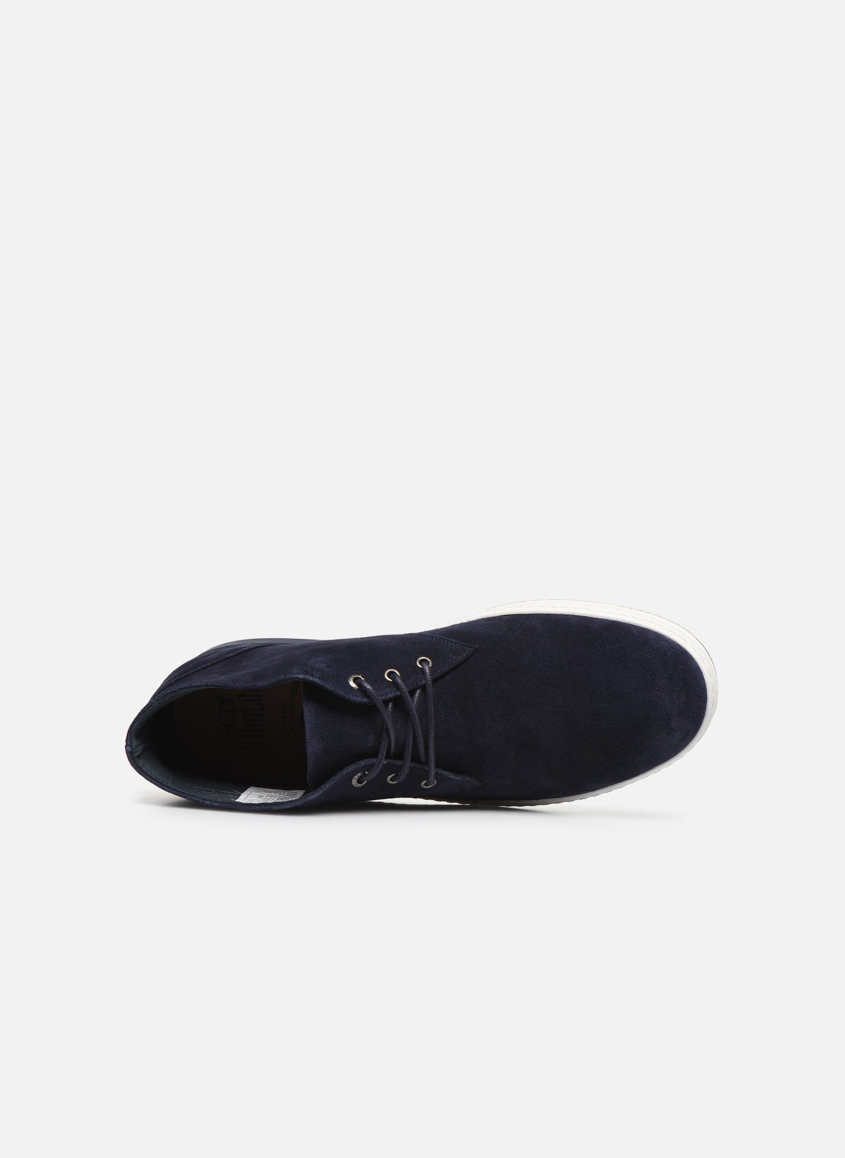 Lace-up shoes Aigle Lonriver Mid Blue view from the left