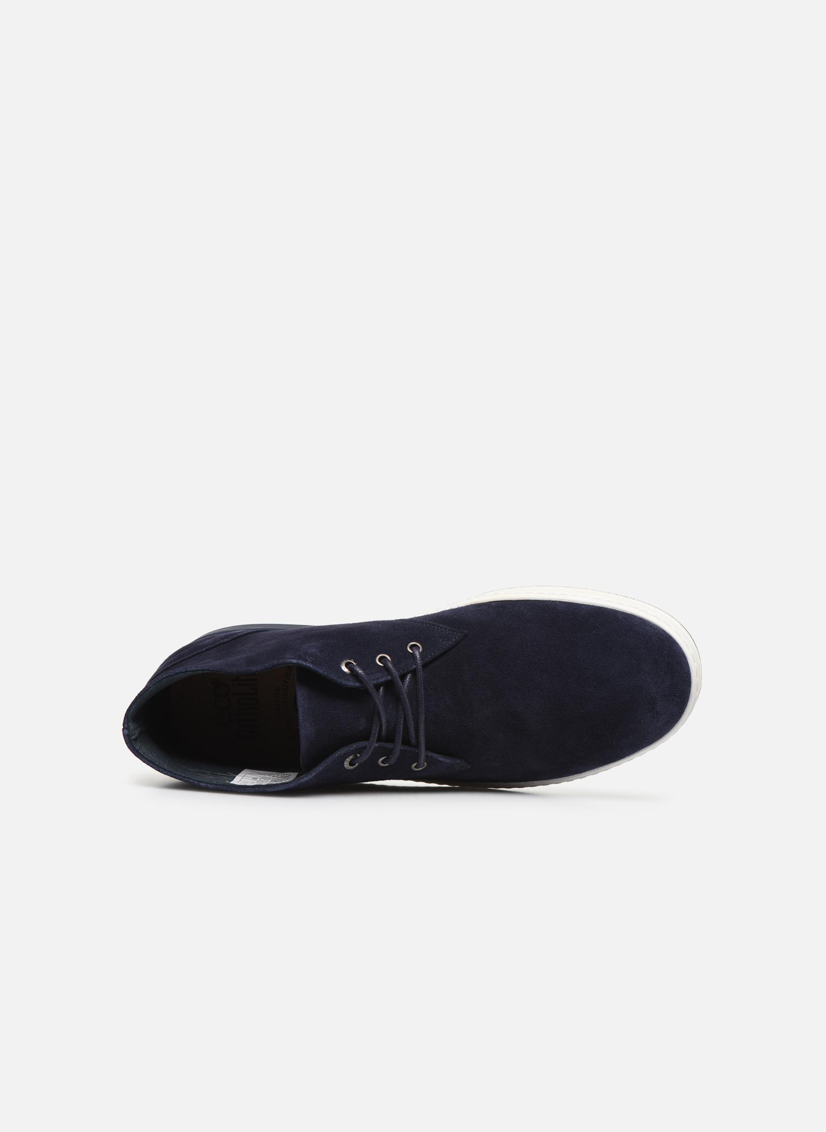 Zapatos con cordones Aigle Lonriver Mid Azul vista lateral izquierda