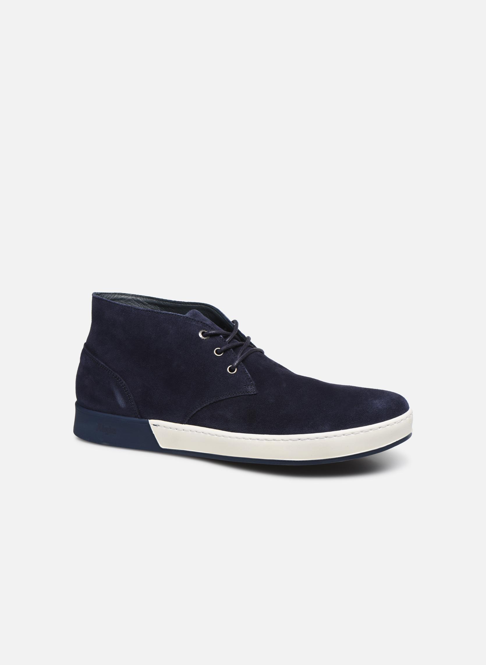 Zapatos con cordones Aigle Lonriver Mid Azul vista de detalle / par