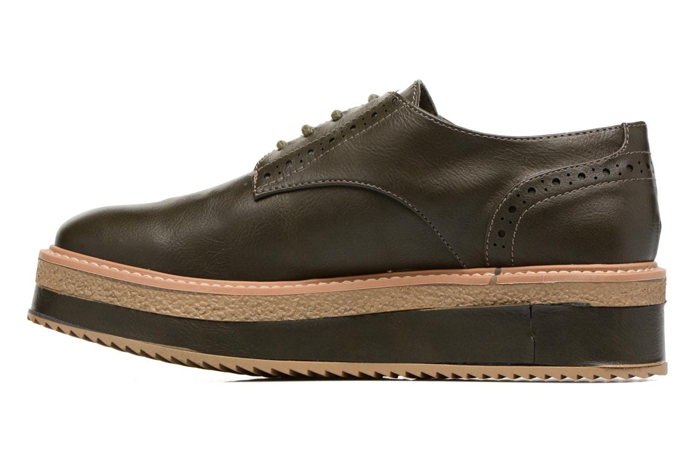 Zapatos con cordones MTNG Ed Verde vista de frente