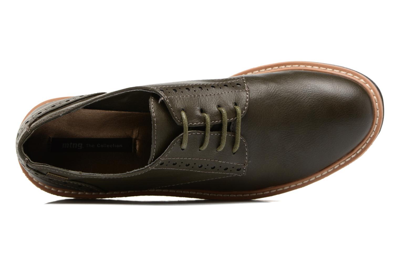 Zapatos con cordones MTNG Ed Verde vista lateral izquierda