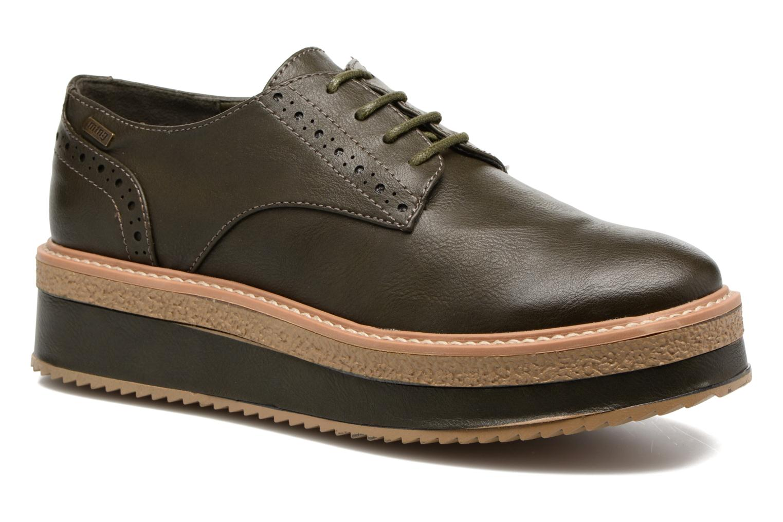 Zapatos con cordones MTNG Ed Verde vista de detalle / par