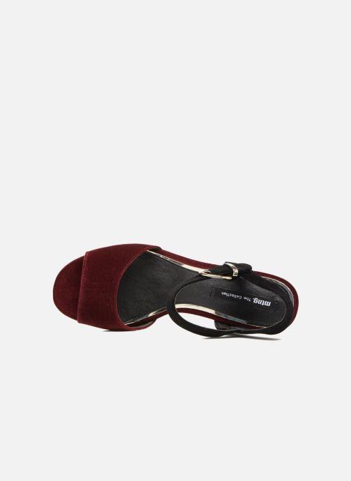 Sandales et nu-pieds MTNG Valor Bordeaux vue gauche