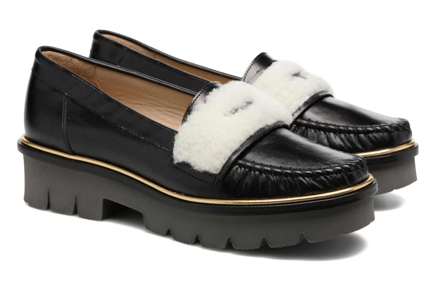 Loafers MAURICE manufacture Pat Black 3/4 view
