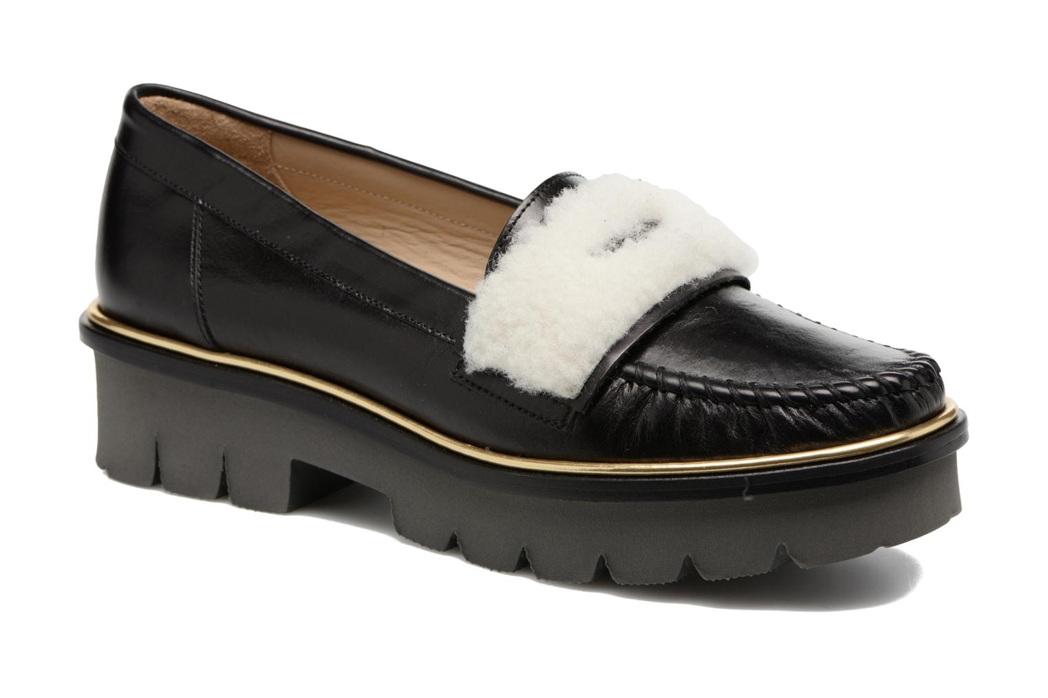 Loafers MAURICE manufacture Pat Black detailed view/ Pair view