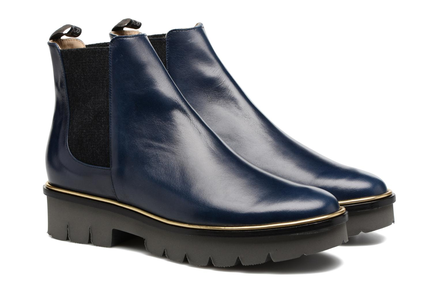 Bottines et boots MAURICE manufacture Charly Bleu vue 3/4