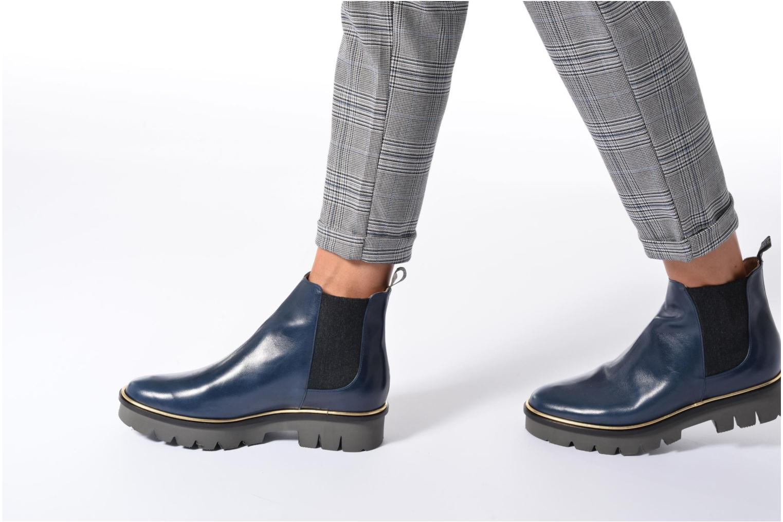 Bottines et boots MAURICE manufacture Charly Bleu vue bas / vue portée sac