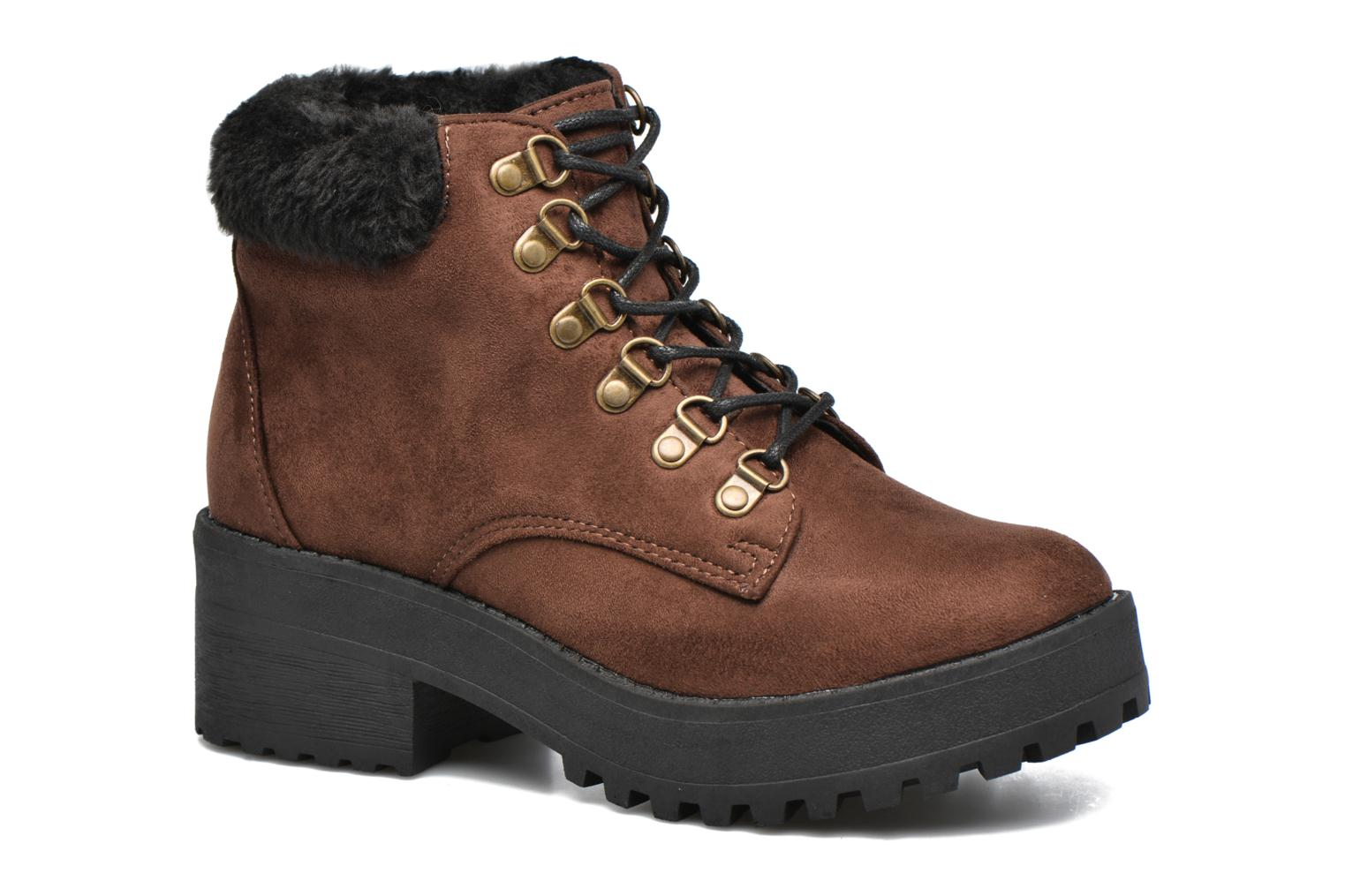 Ankle boots Coolway Moscu Brown detailed view/ Pair view