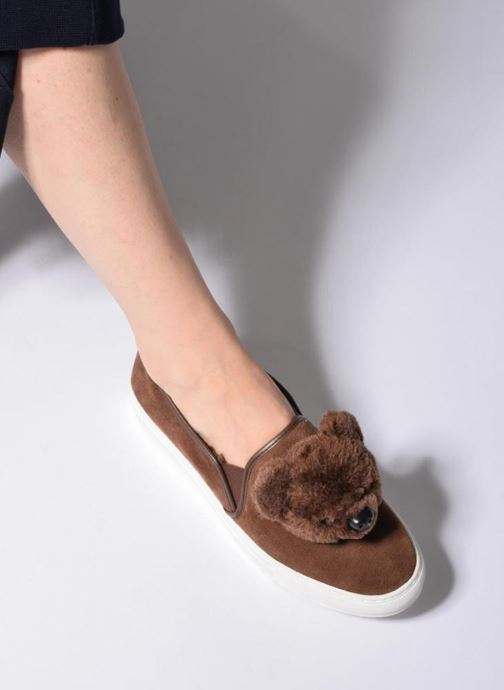 Sneaker Katy Perry Barret braun ansicht von unten / tasche getragen