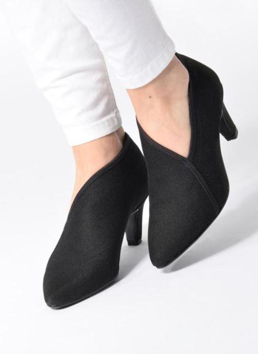 Zapatos de tacón United Nude Fold Litte Mid Negro vista de abajo