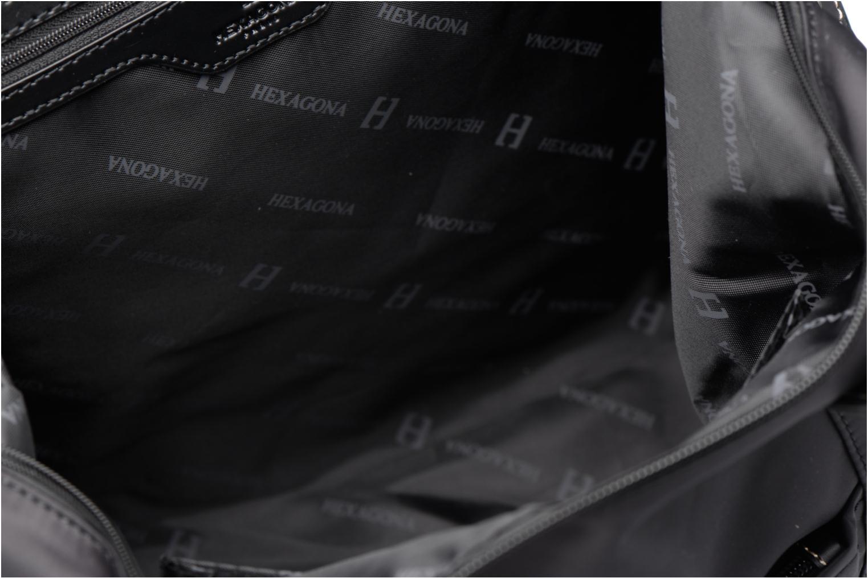 Sacs à main Hexagona Cabas A4 Nylon Noir vue derrière