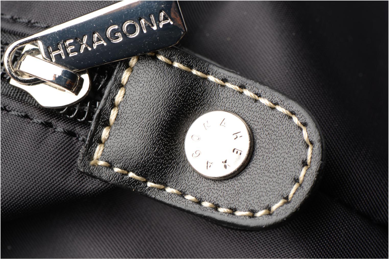 Sacs à main Hexagona Cabas A4 Nylon Noir vue gauche