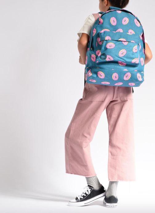 Scolaire Mi-Pac Premium Print Backpack Bleu vue bas / vue portée sac