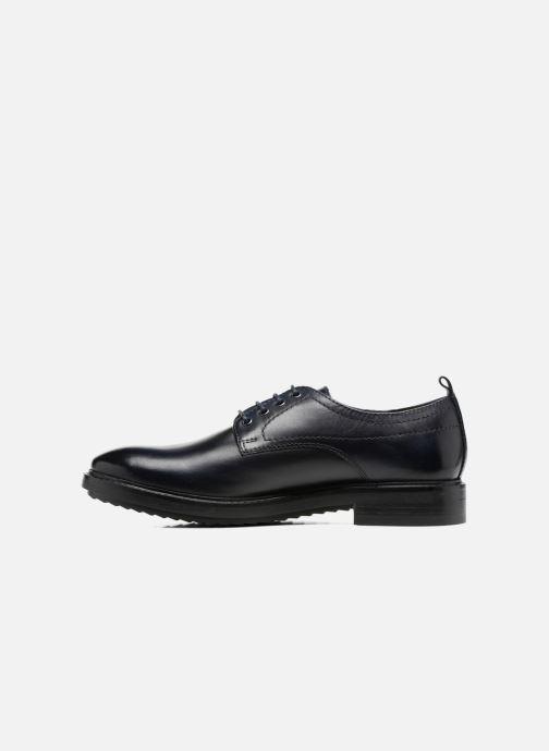 Zapatos con cordones Base London Elba Azul vista de frente