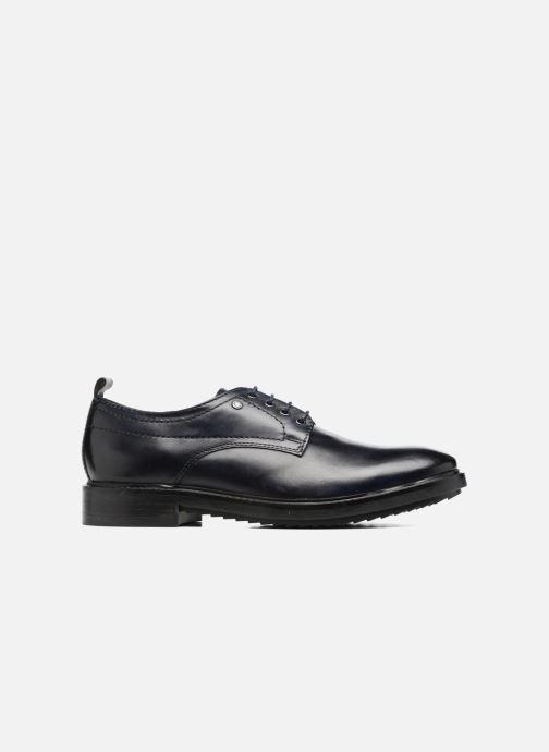 Zapatos con cordones Base London Elba Azul vistra trasera