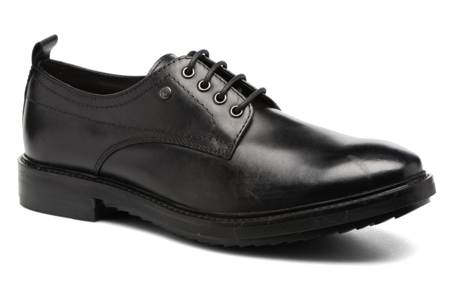 Lace-up shoes Base London Elba Black detailed view/ Pair view