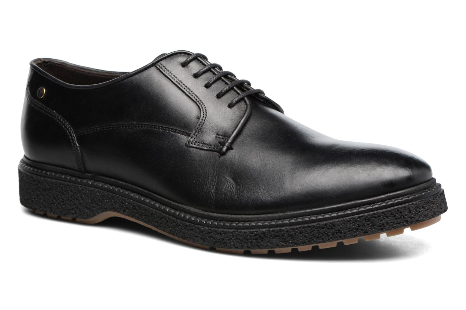 Lace-up shoes Base London Riot Black detailed view/ Pair view