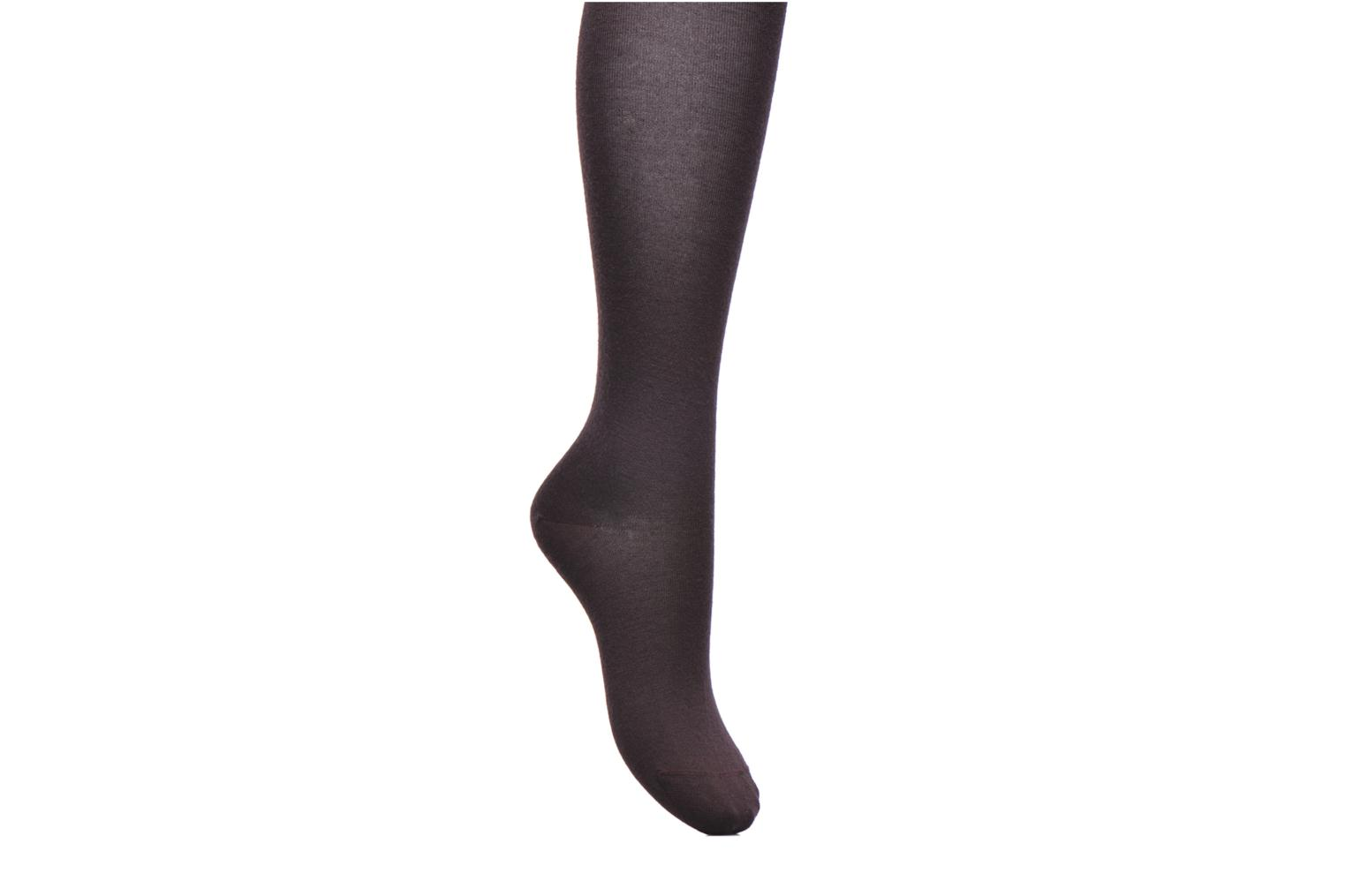 Socks & tights BLEUFORÊT Collants Laine Fine Intérieur Coton Burgundy detailed view/ Pair view