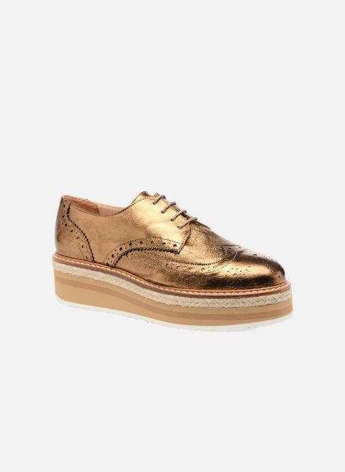 Zapatos con cordones Jonak Allo Oro y bronce vista de detalle / par