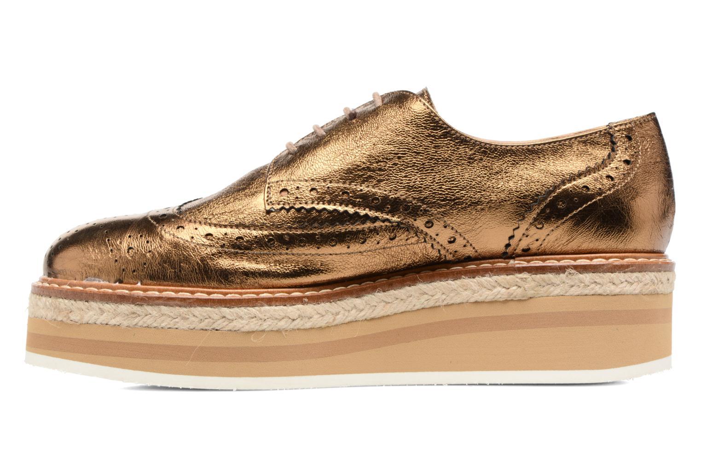 Chaussures à lacets Jonak Allo Or et bronze vue face