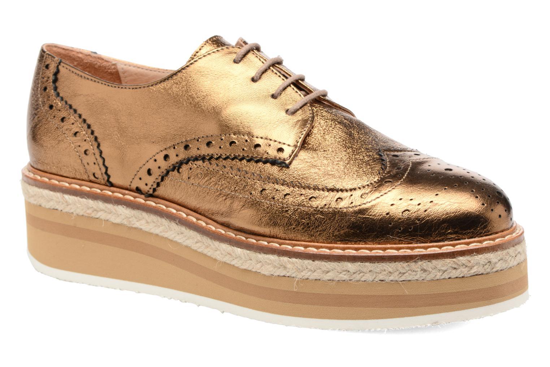 Chaussures à lacets Jonak Allo Or et bronze vue détail/paire