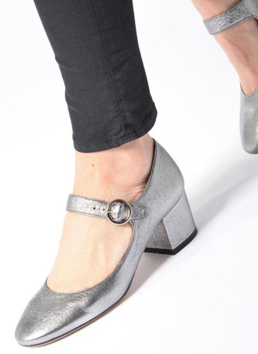 Zapatos de tacón Jonak Viva Plateado vista de abajo