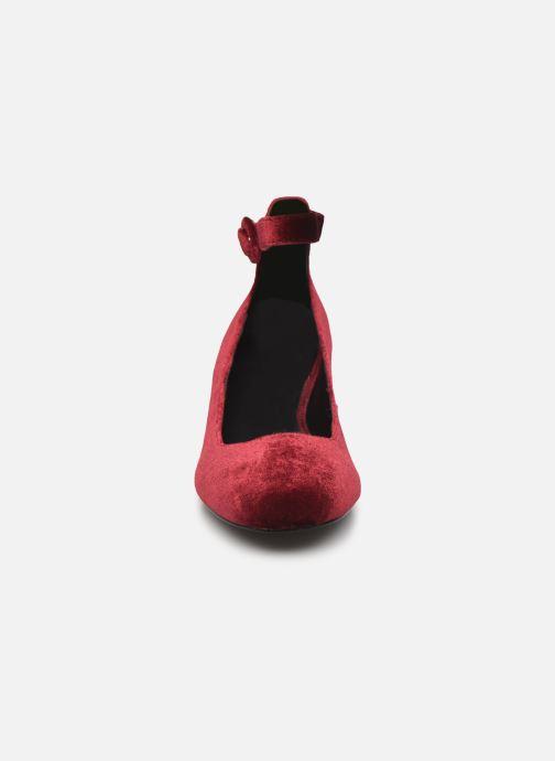 Ballerines Jonak Sugar Bordeaux vue portées chaussures