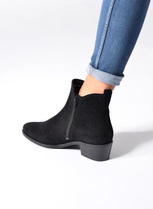 Bottines et boots Hassia Maëlys 6754 Noir vue bas / vue portée sac