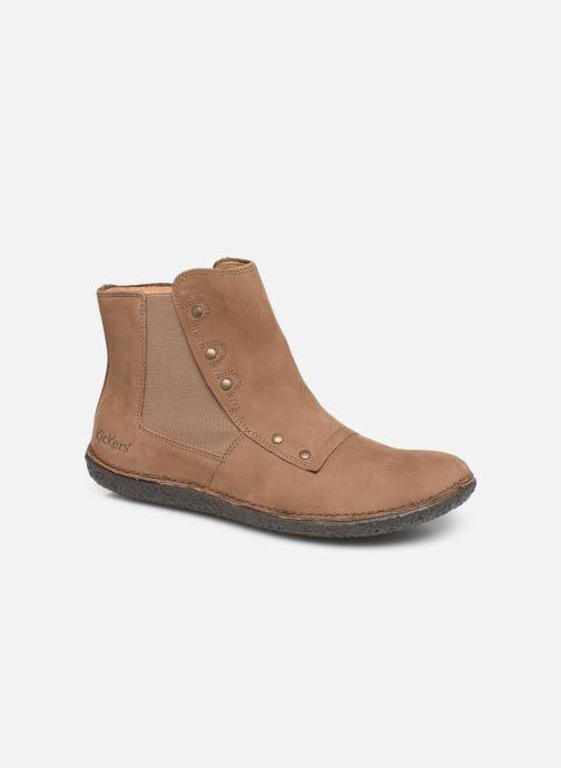 Ankelstøvler Kickers HAPPLI Brun detaljeret billede af skoene