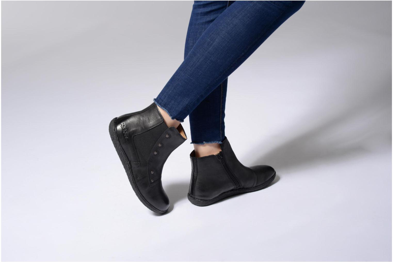 Bottines et boots Kickers HAPPLI Marron vue bas / vue portée sac