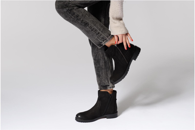 Bottines et boots Kickers ARMEN Noir vue bas / vue portée sac