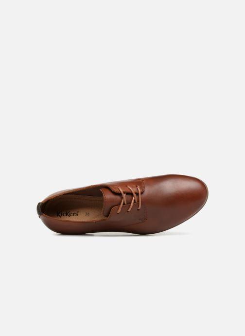Zapatos con cordones Kickers GAZELLAN Marrón vista lateral izquierda