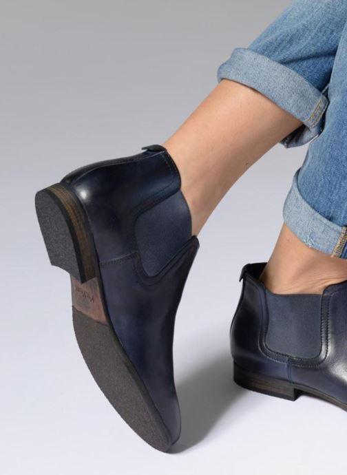 Stiefeletten & Boots Kickers GAZETTA braun ansicht von unten / tasche getragen
