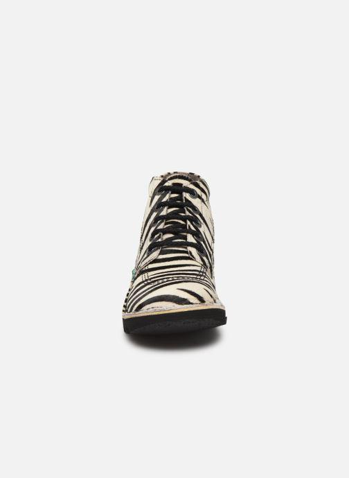 Bottines et boots Kickers NEORALLYE  Multicolore vue portées chaussures