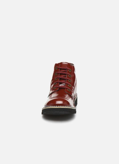 Bottines et boots Kickers NEORALLYE  Rouge vue portées chaussures