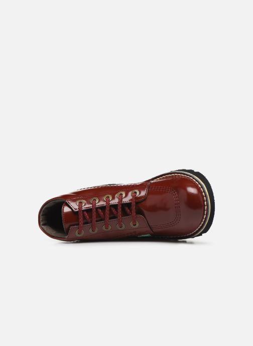 Bottines et boots Kickers NEORALLYE  Rouge vue gauche