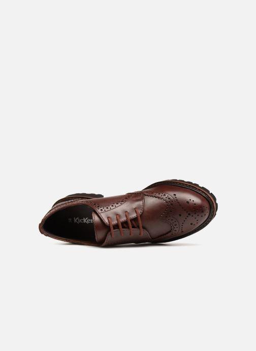 Chaussures à lacets Kickers RONY Marron vue gauche